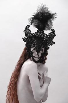 An otherworldly headpiece collection celebrating a mythical river spirit