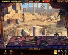 Jogo Relic Quest Uma possivel interação no cenário, onde tem que se achar determinados objetos que estão escondidos para se completar uma tarefa.