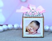 No. 5 Personalized Pink Baptism Christening Photo Block Keepsake