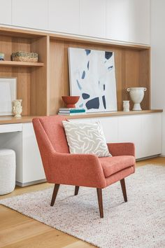 The Angle Chair is perfect for crossed-leg contemplation, or even a sneaky nap. #LivingRoom #LivingRoomFurniture #SofaInspo #InteriorInspo #InteriorDesign #LoungeChair