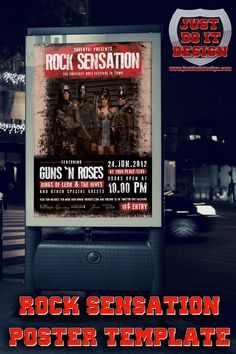 Rock Sensation Flyer/Poster designed to promote any kind of music event like a gig, concert, festival, party or weekly event in a music club and other kind of special evenings.    * 1 psd File  * Easy Editable  * Print Ready  * A4 size  * 300 dpi  * CMYK  * Well Organized Layers  * Easy to use  * Fonts Included    Cheers!!    Click The Button Below To Grab Your FREE Copy!