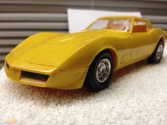 1980 Chevrolet  Corvette Bright Yellow DEALERSHIP PROMO CAR  1:24 Scale ERTL