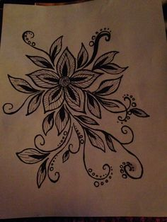 So drew this...and now I'm getting it on my hip/side.