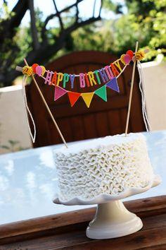 Birthday Banner Cake Etsy New Ideas Diy Birthday Banner, Happy Birthday Cake Topper, First Birthday Cakes, Birthday Explosion Box, Cake Banner, Felt Banner, Tissue Paper Garlands, Diy Cake Topper, Personalized Cake Toppers