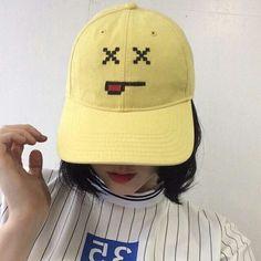 Yellow face cap