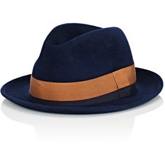 284761db5a7 Barbisio Men s Rabbit Fur Felt Fedora (€340) ❤ liked on Polyvore featuring  men s fashion