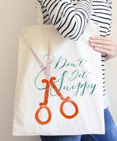 Love you a Latte Shop 'Don't Be So Snippy' Market Tote Diy Craft Projects, Sewing Projects, Sewing Ideas, Vinyl Signs, Earrings Handmade, Screen Printing, Love You, Reusable Tote Bags, Crafty