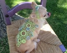 one of a kind handmade light green crocheted lace by ChakaCoco, $135.00