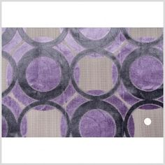 Gray/Lavender Geometric Chenille Fabric by the Yard | Mood Fabrics