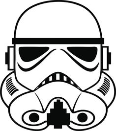 Stormtrooper Sticker / Decal - Choose Size & Color - Star Wars Empire Force Sith