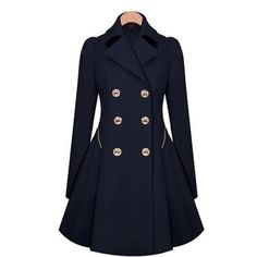 black a-line trench coat