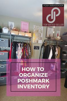 How To Sell Clothes, Resale Clothing, Small Home Offices, Office Organization, Selling On Poshmark, Selling Online, Goodwill Finds, Things To Sell, Storage