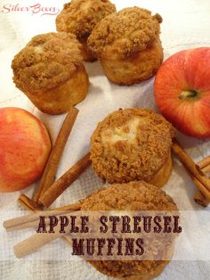Apple streusel muffi