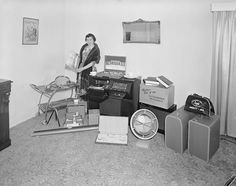 Woman with Electrical Goods, Ashburton, Melbourne, Victoria, 10 Sep 1959