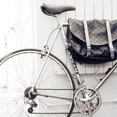 Vintage Louis Vuitton Postman Bike Bag - if you're gonna ride a bike, do it in style