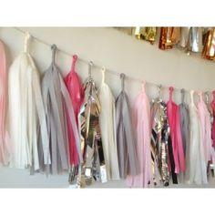 Pretty in pink tassel garlands