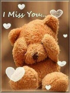 Sad I Miss you Images Pics Wallpaper for lover Girlfriend Couple Cute Miss You, I Miss U, Cute Love, I Miss You Wallpaper, Bear Wallpaper, Photo Ours, Teddy Bear Quotes, Miss You Images, Teady Bear