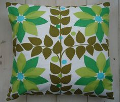 large vintage fabric scandinavian style flower cushion cover / pillow case. £19.00, via Etsy.