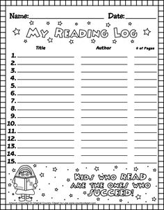 Free Reading Log For Kids Free Printable Reading Logs For Teachers And Parents For Students Reading Logs, Kids Reading, Guided Reading, Reading Lessons, Free Reading, 4th Grade Reading, Student Reading, Reading Log Printable, Book Log