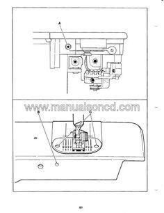 Singer 14u444B-14U454B Overlock Sewing Machine Instruction