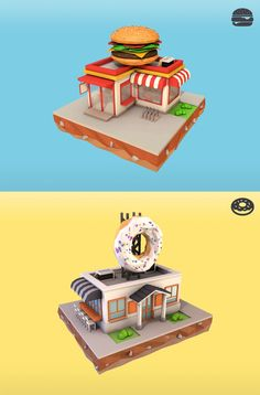 Low poly things and design.