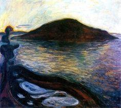 art-is-art-is-art:  The Island, Edvard Munch