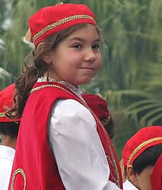 www.villsethnoatlas.wordpress.com (Grecy, Greeks) Little girl wearing greek traditional dress by mardiR, via Flickr