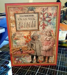 Tim Holtz, Christmas Projects, Vintage World Maps, December, Mary, In This Moment, Paper, Handmade, Hand Made