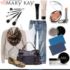 Look Mary kay , lista para salir de fiesta....