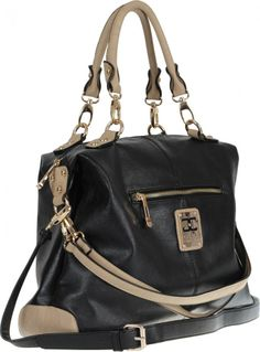 Fun and funky with coordinating handles, the Chloe Grip Handle Bag in black is a super stylish shopper that will add a pop of personality to any outfit.