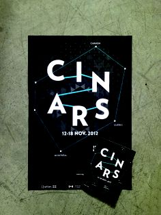 Affiche / dépliant pour Cinars 2012