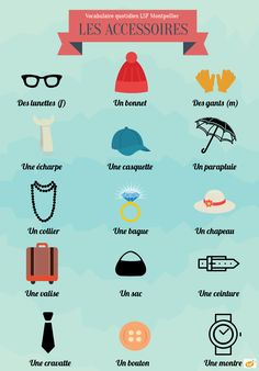 French vocabulary - Accessories
