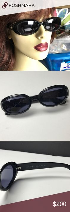Vintage Gucci Sunglasses Fabulous Vintage Gucci Sunglasses  Excellent Vintage condition  Create your own smart and sexy style with a one of a kind look. With these unique Sunglasses you will make a stylish statement. I have a large vintage glasses collection and am selling some to make room for more treasures. Gucci Accessories Sunglasses