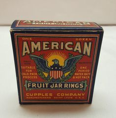 ANTIQUE Advertising AMERICAN Fruit Jar Rings by AmazingFunVintage