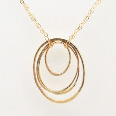 14k Gold Fill Oval Cluster Necklace  Recycled by FavorJewelry, $76.00