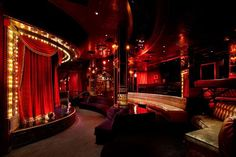 Beachers Madhouse lounge and bar at Hollywood Roosevelt Hotel Café Theatre, Home Theater, Dream Theater, Night Club, Night Life, Salas Lounge, Nightclub Design, Jazz Bar, Home Designer