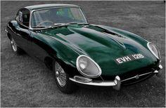 Its the 50th anniversary. A green E type Jaguar