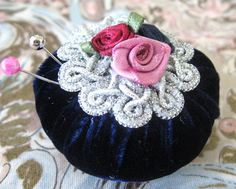 Pincushion Pin Keeper MINI Pinnie 2 inch by CharlotteStyle on Etsy, $8.50