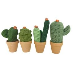 So many hipster goodies, that said, I want these for my office // Medium Crochet Plants / Drake General Store