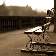 Lonely Bench Sepia