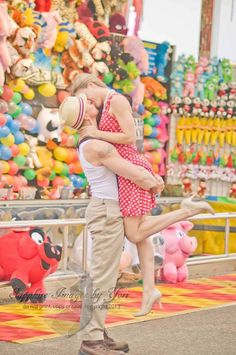 Ask her to marry you at the carnival!
