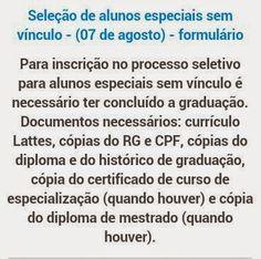 Blog do Sérgio: Mestrado e Doutorado em Educação UFG/Goiânia - Alu...