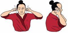 Pellizcar las orejas y estirarlas, zona refleja, activa todos los órganos internos y afina el oído