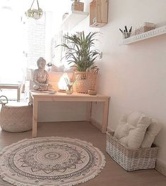Home Yoga Room, Yoga Room Decor, Meditation Room Decor, Meditation Space, Yoga Meditation, Yoga Rooms, Meditation Garden, Yoga Room Design, Meditation Corner