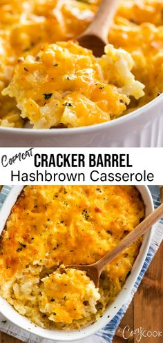 This Hashbrown Casserole tastes just like the Cracker Barrel version and is so e. - This Hashbrown Casserole tastes just like the Cracker Barrel version and is so easy to make. Cracker Barrel Hashbrown Casserole, Hashbrown Breakfast Casserole, Hash Brown Casserole, Brunch Casserole, Chorizo Breakfast, Make Ahead Breakfast Casserole, Savory Breakfast, Bean Casserole, Healthy Recipes