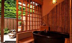 "Ensuite bathroom in 'Ryokan' style accommodation ""Saito"" (Iwate, Japan)"