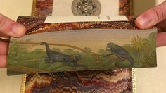Spider monkeys from a fore-edge painting on The Natural History of Monkeys (1838) PHOTO: COURTESY OF THE SWEM LIBRARY