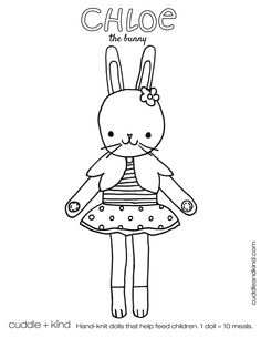 cuddle+kind chloe the bunny colouring sheet www.cuddleandkind.com Easter Coloring Sheets, Easter Colouring, Printable Coloring Sheets, Colouring Pages, Free Coloring, Coloring Pages For Kids, Coloring Books, Colouring Sheets, Cute Kids Crafts
