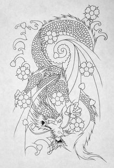 japanese dragon outline by katie 92 on deviantart - Coloring Pages Beautiful Angels