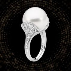Award Winning Jewelry Designers in Australia and New Zealand - Matthew Ely Diamond and Pearl Ring - Pearl Set, Pearl Ring, Jewelry Stand, Fine Jewelry, Connoisseurs Jewelry Cleaner, International Jewelry, Holiday Jewelry, Dress Rings, Ely